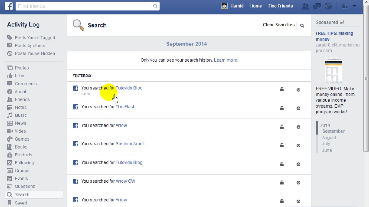 How To View And Delete Your Facebook Search History