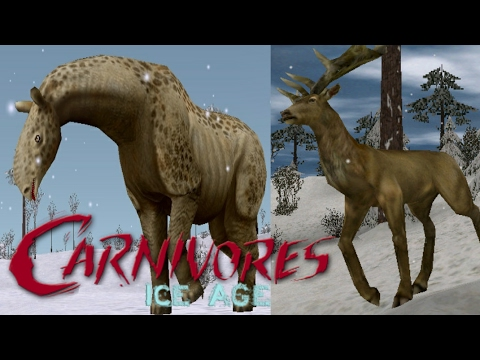 Indricotherium and Megaloceras! - Carnivores Ice Age - YouTube
