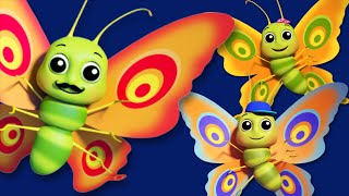 Butterfly Finger Family | 3D Nursery Rhymes For Kids And Childrens | Songs For Baby