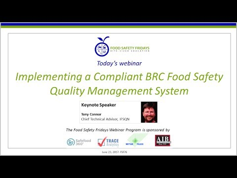 Implementing A Food Safety Management System Compliant With BRC