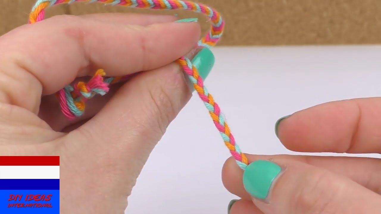 Fonkelnieuw Zelf visgraatarmband maken | zelf armband knopen in drie kleuren HM-77