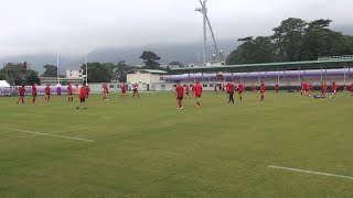 Wales training ahead of Rugby World Cup quarter final against France