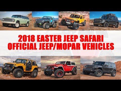 2018 Easter Jeep Safari Official Jeep/Mopar Concept Vehicles