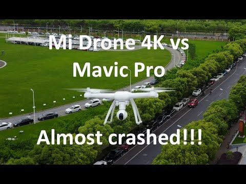 [4K]Mi Drone 4K VS Mavic Pro, Almost Crashed! [Sami Luo Vlog 17] #SamiLuo