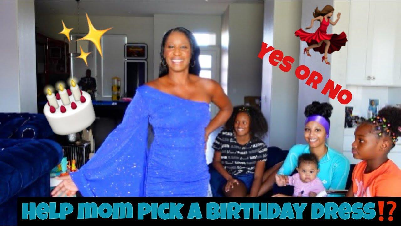 HELPING MOM PICK A BIRTHDAY DRESS!!(FASHION NOVA)