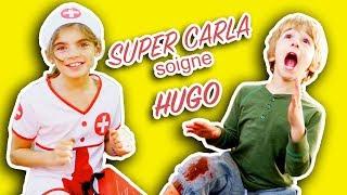 HUGO se BLESSE mais heureusement SUPER CARLA vient le sauver! Angie la Crazy Série