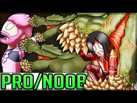 TEMPERED DEVILJHO BREEDING GROUNDS - New Event - Pro and Noob VS Monster Hunter World Multiplayer!