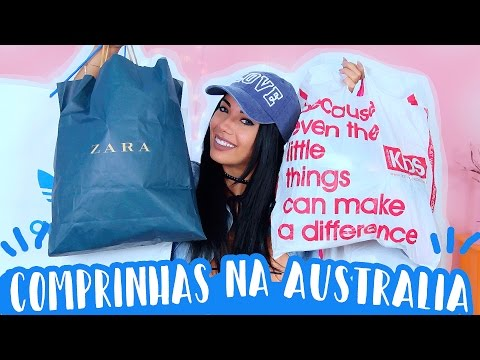 COMPRINHAS NA AUSTRALIA!