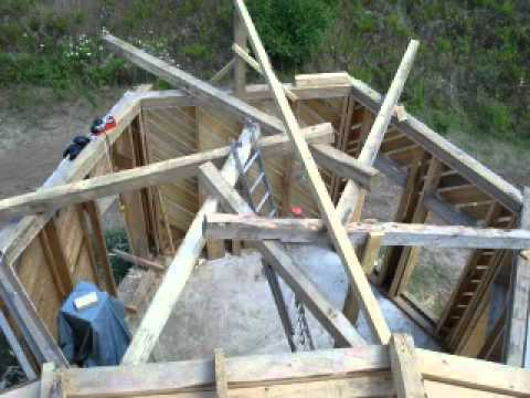 Wooden House Amp Straw Walls Amp Reciprocal Roof A Lot Of