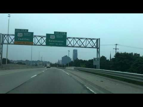 Grand Rapids Drive in HD : Interstate 196 to U.S 131 to 44th St in Wyoming, Michigan