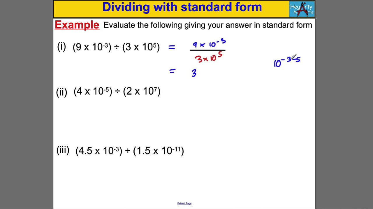 Dividing with standard form youtube dividing with standard form falaconquin