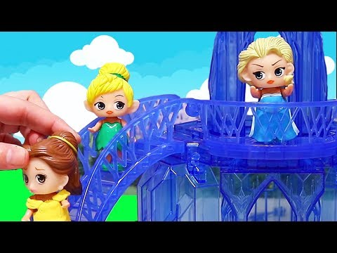 The Fake Grumpy Elsa ! Toys and Dolls Pretend Play for Kids and Painting Disney Princesses | SWTAD