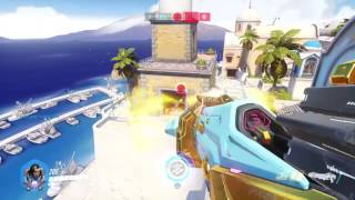 Overwatch Competitive (PS4) Gameplay Pharah 48-5