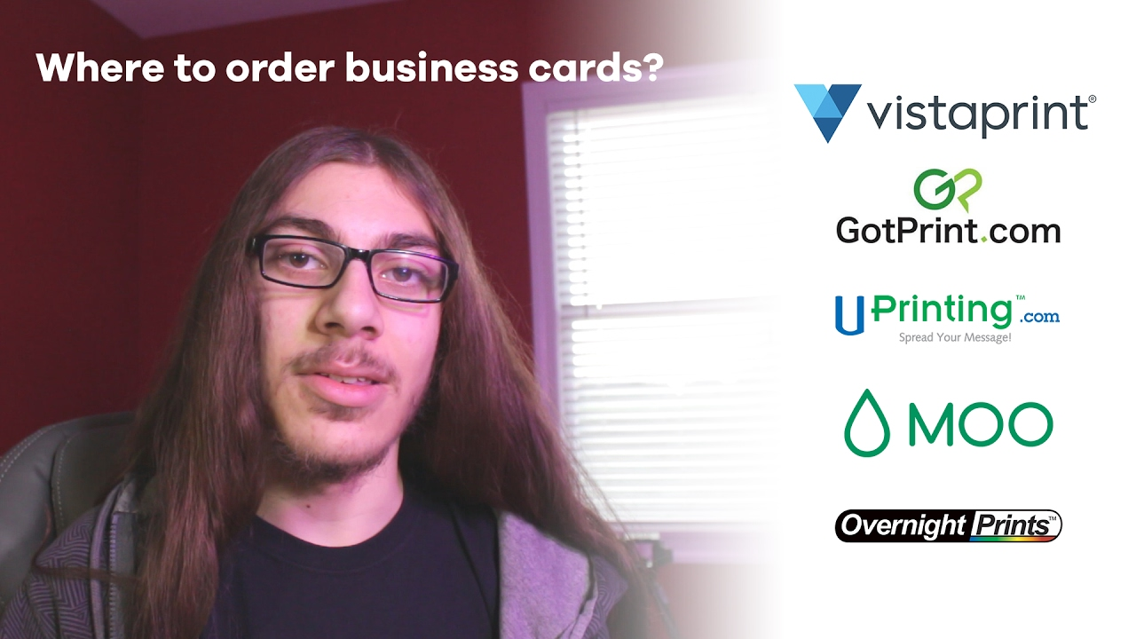 Where to Order Business Cards? | 5 Sites Compared - YouTube