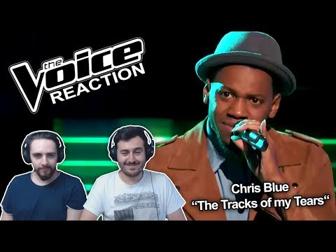 "The Voice 2017 Blind Audition - Chris Blue: ""The Tracks of My Tears"" REACTION"