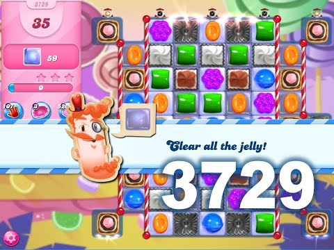 Candy Crush Saga Level 3729 (3 Stars, No Boosters)