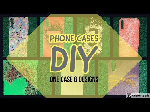 Phone cases DIY|One case 6 designs|With paper and homely things