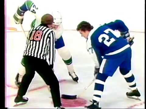 January 21 1977 Toronto Maple Leafs vs Vancouver Canucks