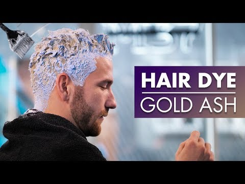 hair-dye- -gold-ash-color- -short-hairstyle-2019