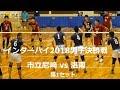 市立尼崎vs洛南高校 インターハイ2018男子決勝 1セット目