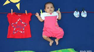 Easy & Simple Baby photoshoot ideas at home# Kids theme Photography📸DIYs# monthly photoshoot ideas#