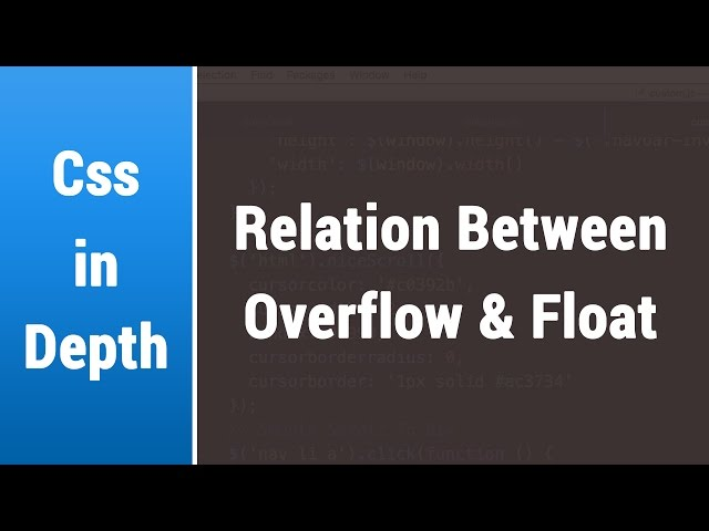 Arabic Css Lessons - Learn The Relation Between Overflow and Float