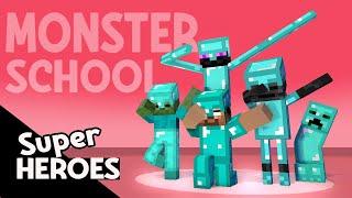MONSTER SCHOOL SUPERHEROES - COOL MINECRAFT ANIMATION