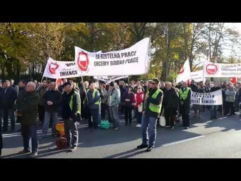 Protest Sadowników W Warszawie