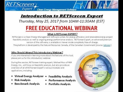 Introduction to RETScreen Expert: Recorded Educational Webinar