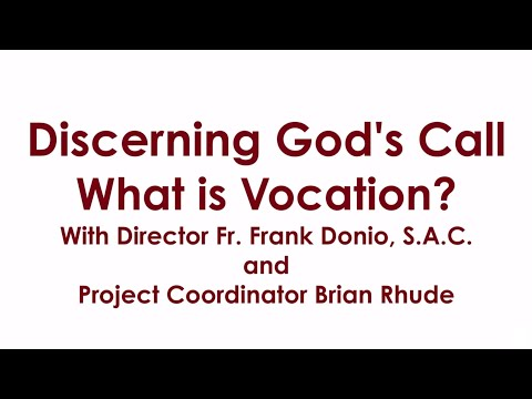 Discerning God's Call: What is Vocation?