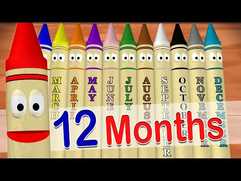 Calendar Crayons Teach Months of the Year