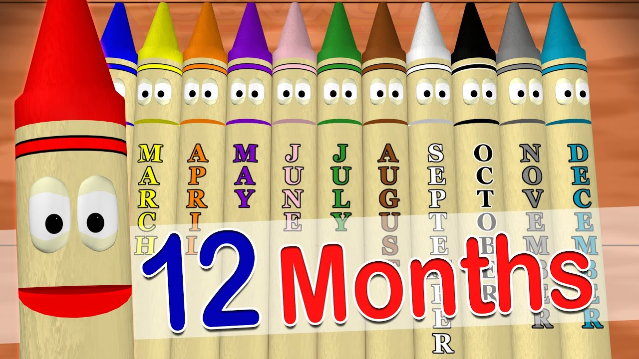 Calendar Crayons Teach Months Of The Year Youtube