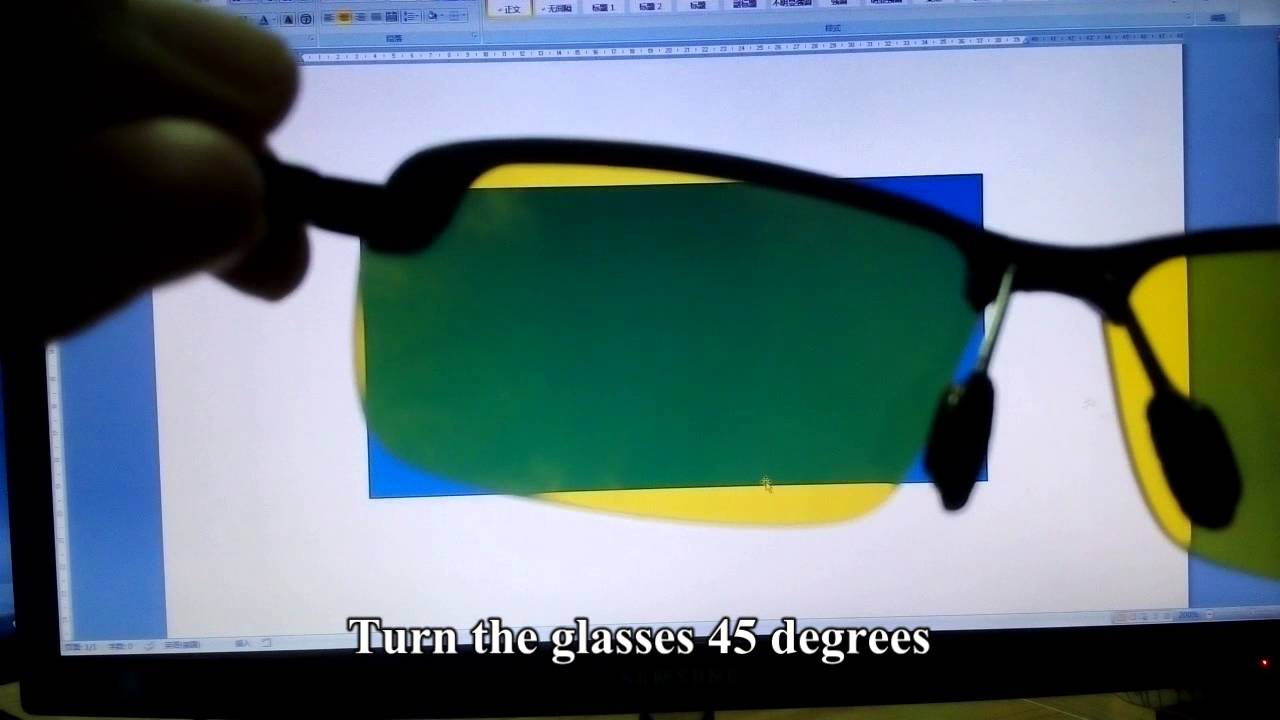 driving glasses polarized  Polarized Test for Night Vision Driving Sunglasses - YouTube