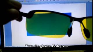 Polarized Test for Night Vision Driving Sunglasses