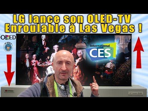Le PREMIER OLED-TV Enroulable au CES 2019 ! (LG)