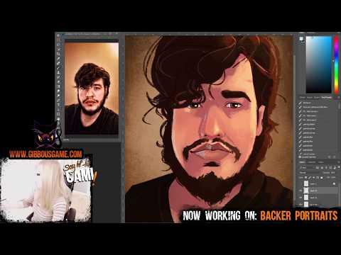 Painting cartoon versions of people