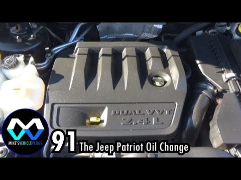 "VEHICLE VLOG 91 - ""The Jeep Patriot Oil Change"""