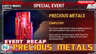 Transformers Earth Wars: Precious Metals (Recap/Dup City)