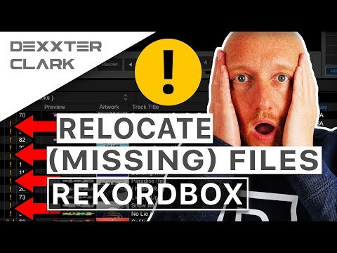 How to change location songs Rekordbox // dealing with missing files and tracks