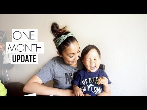 JULIAN'S 1 MONTH HOME KOREAN ADOPTION UPDATE | Shane and Mel