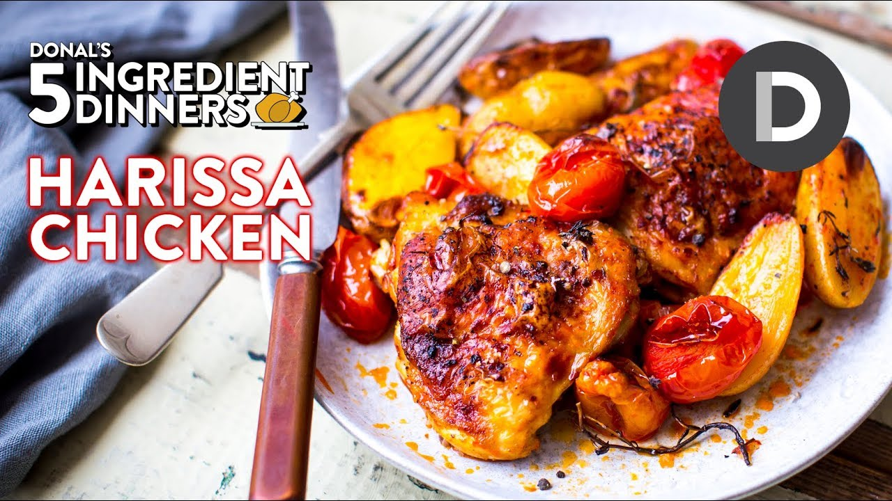 ONE TRAY Harissa Chicken | 5 Ingredient Dinner!