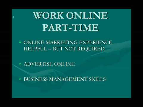 Online Jobs PART TIME WORK $500 to $1,500 Month