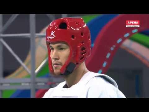 Nikita Rafalovich UZB vs Kairat Sarymsakov KAZ Taekwondo World Championship 2017 Semifinal Men 74 kg