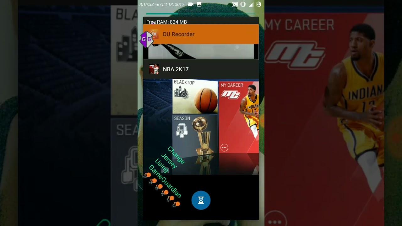 NBA 2K17   18 working Change Jersey Using Game Guardian - YouTube 46e8d5381
