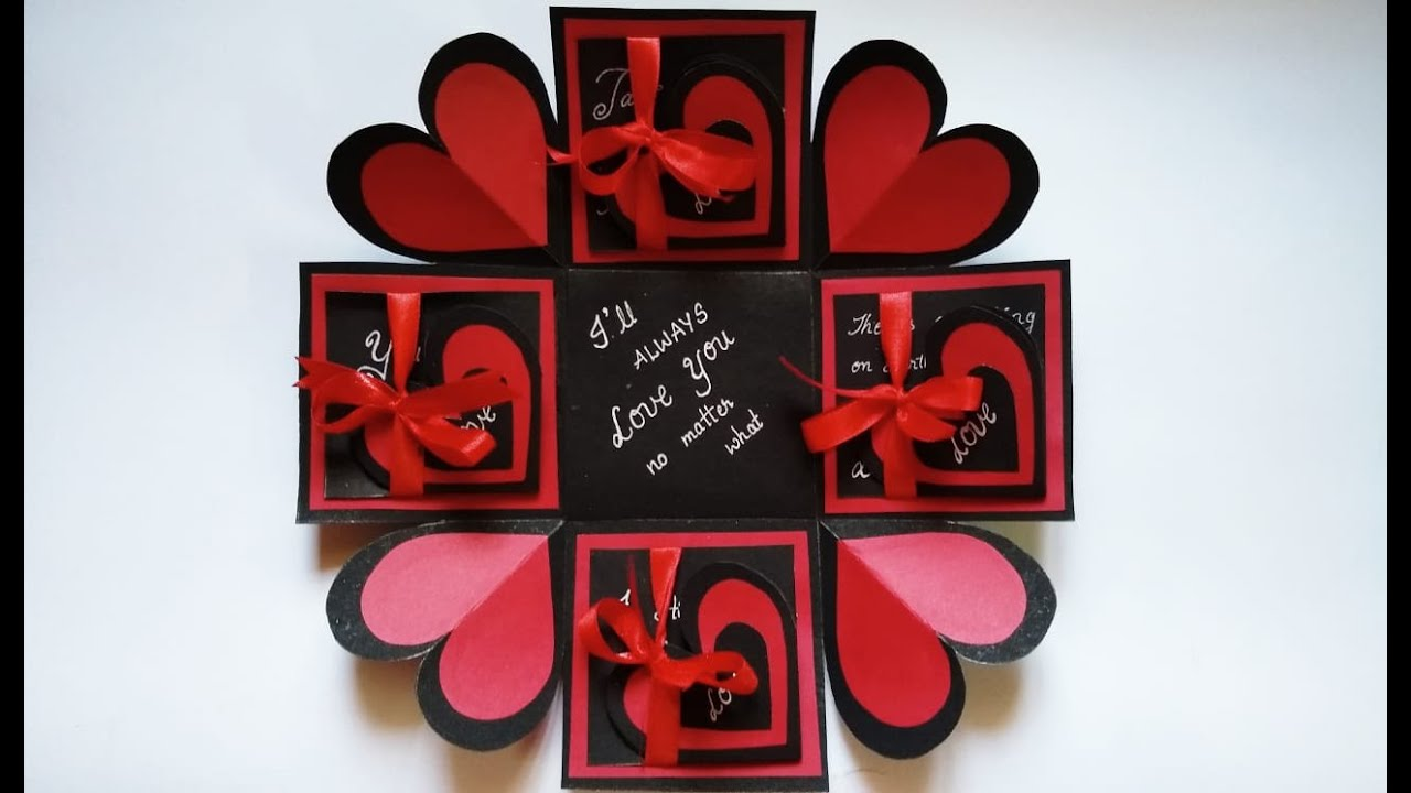 beautiful valentine's day card | explosion box for ...