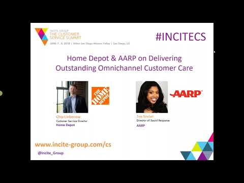 Webinar Home Depot and AARP on Delivering Outstanding Omnichannel Customer Care & Experiences