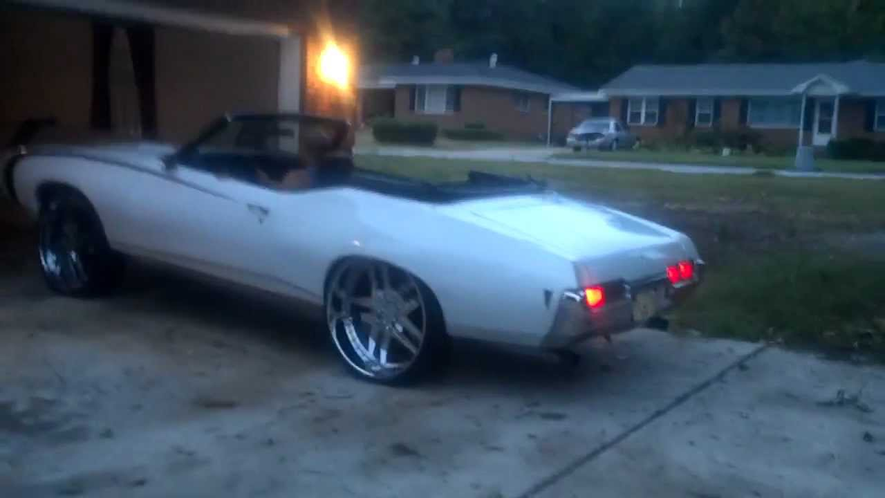 1969 PONTIAC GTO CONVERTIBLE ON 26 OFF SET FORGIATO - YouTube