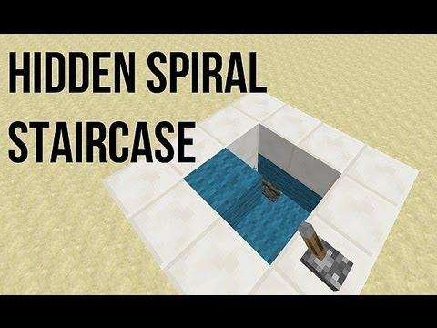 how to make a hidden underground staircase in minecraft