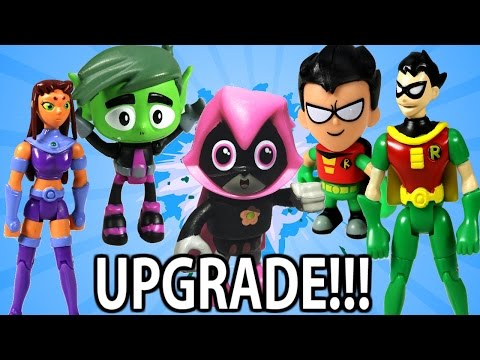 TEEN TITANS GO! New Toys 2017 by Mattel UPGRADED T-Tower New Robin New Starfire Exclusive Sneak Peak