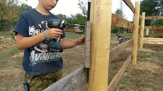 HOW TO BUILD A CORRAL PART 2 The Life of a Farm Boy